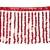 Sequin Fringe 6mm Trim Hologram Red 15cm Long